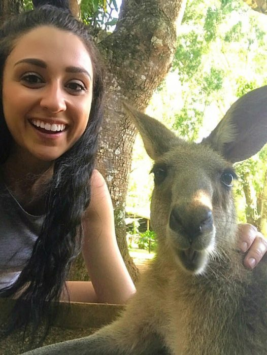 Thompson selfie with kangaroo