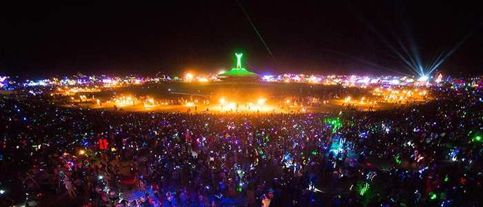 Cropped version of Burning Man at night