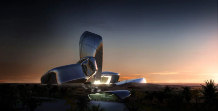 Artists rendering of cultural center