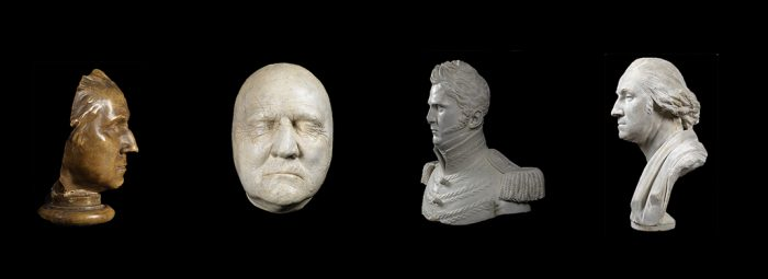 Busts of colonial figures