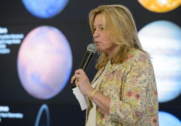 Ellen Stofan on stage