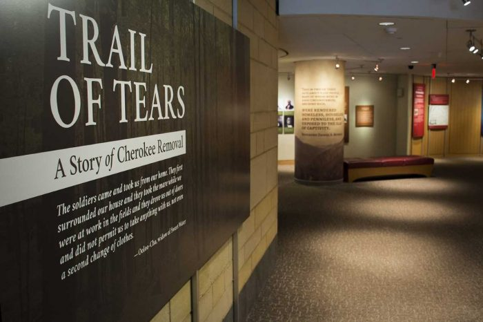 Gallery Entrance to Trail of tears