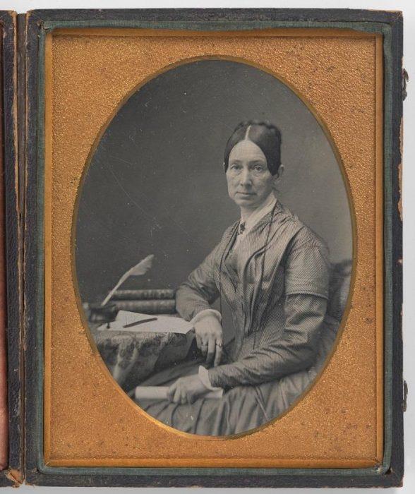 daguerreotype of woman, possibly Dorothea Dix