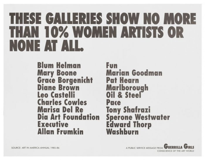 Poster listing Gallery names