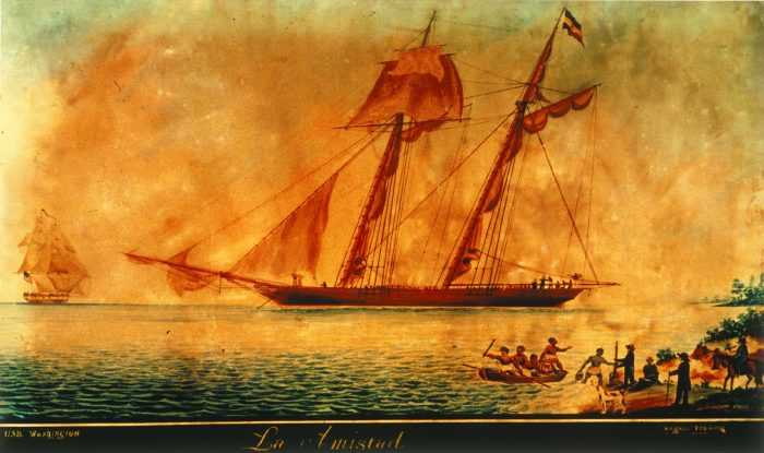Painting of La Amistad slave ship