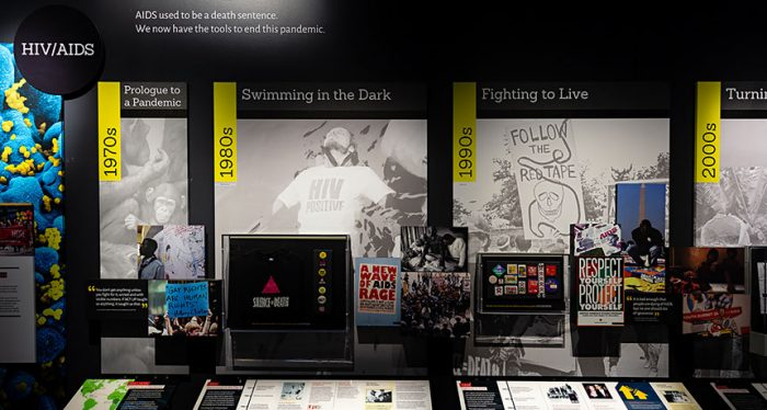 Exhibition display case