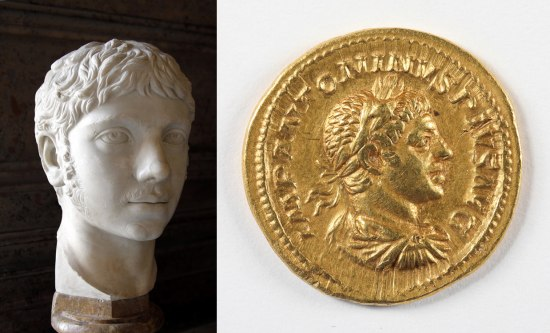 Composite photo of portrait and coin