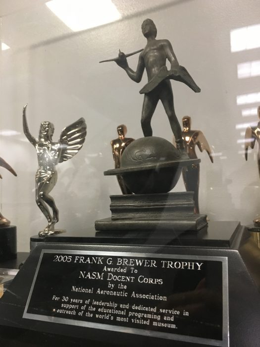 Trophy in display case