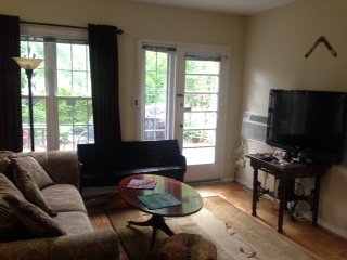 Living room of condo
