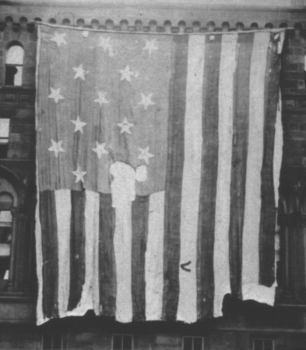 Flag on display