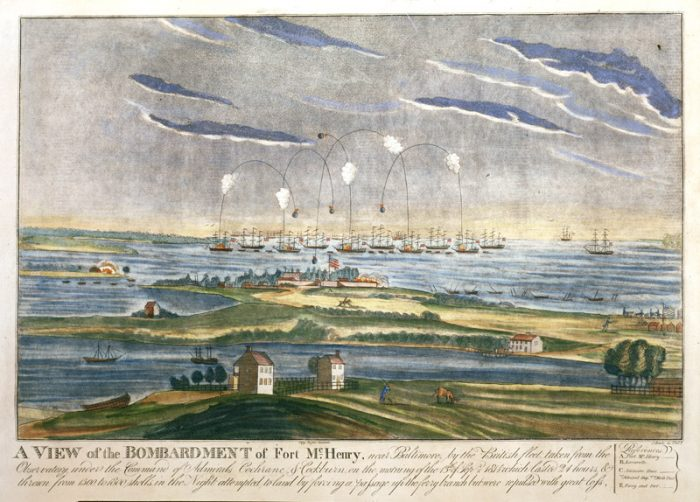 Drawing of the battle of Baltimore