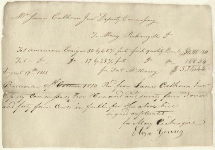 Hand-written receipt