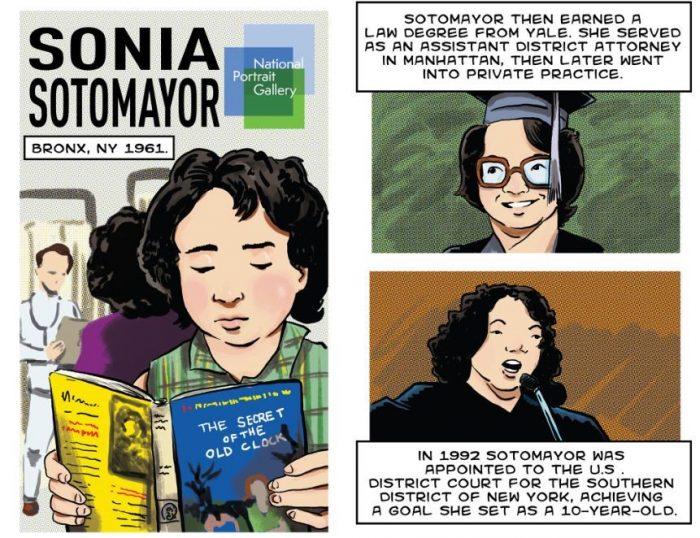 Panels from Sotomayor comic