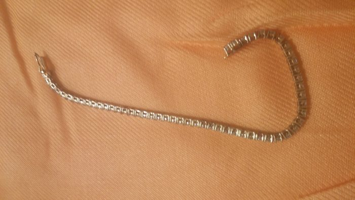 faux diamond tennis bracelet