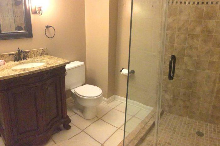 bathroom in basement apartment