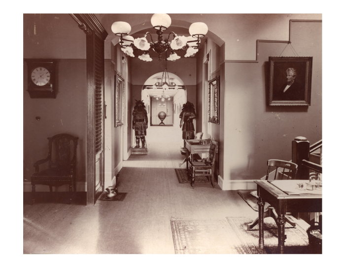 Early photo of hallway in the Castle