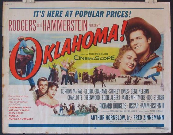 Poster for movie musical Oklahoma