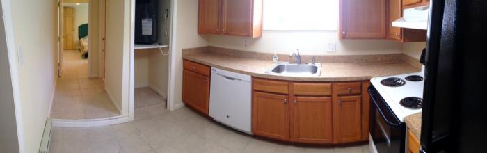 Kitchen in basement apartment