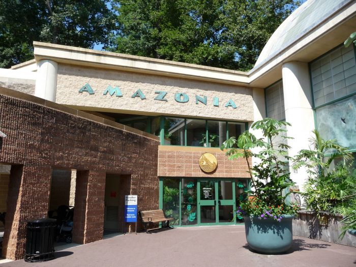 Exterior of Amazonia building at the National Zoo