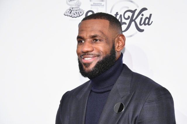 LeBron James at event