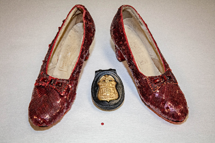 Shoes with FBI Badge