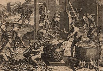 Etching of enslaved people