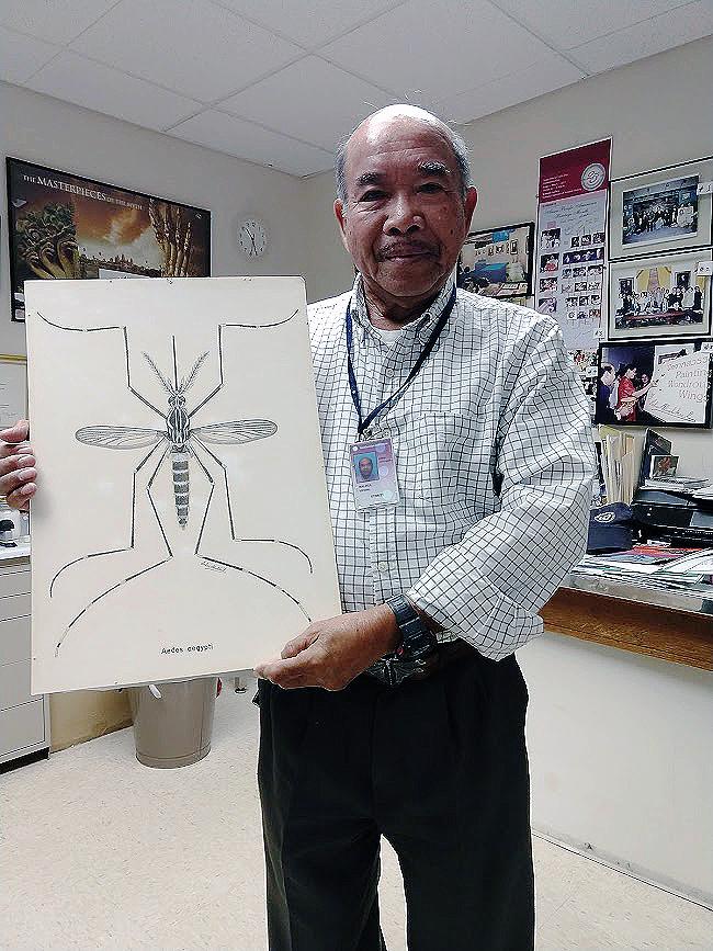 Vichai holding drawing