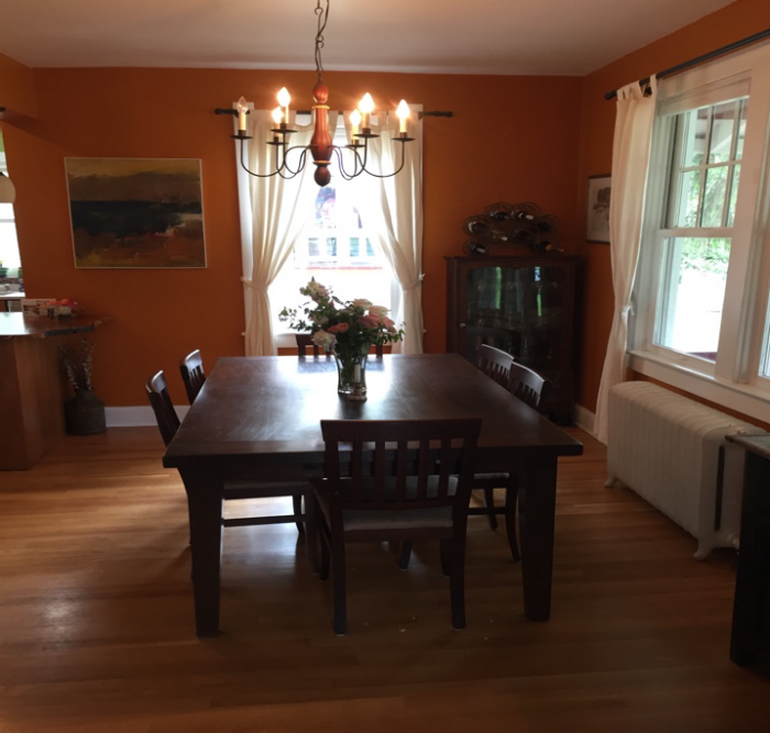 Furnished dining room