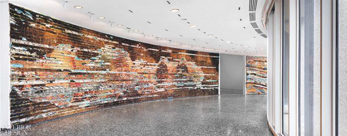 Curved artwork along interior Hirshhorn wall