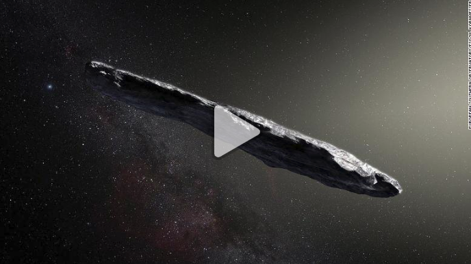 Cigar-shaped asteroid