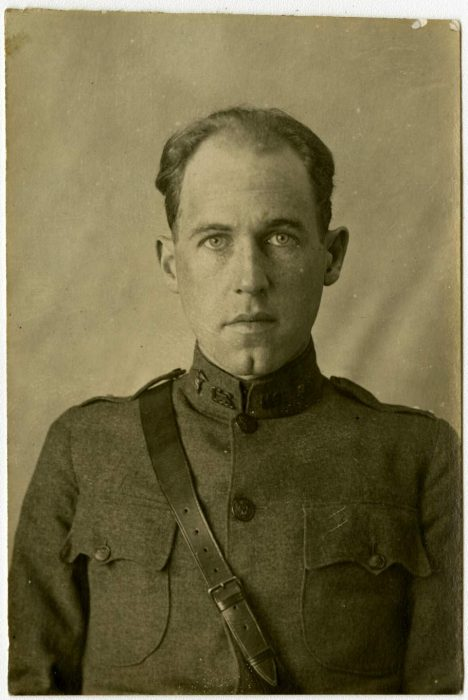 Portrait of WWI soldier