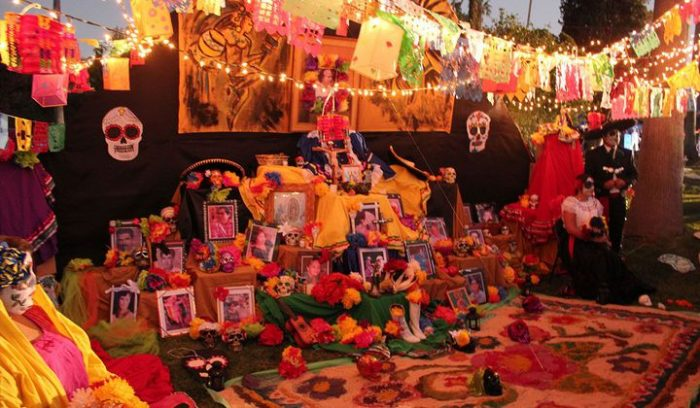 Elaborate Day of the Dead altar