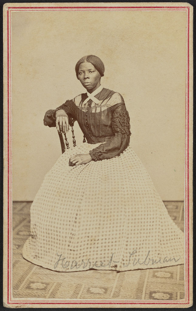 Harriet Tubman visiting card