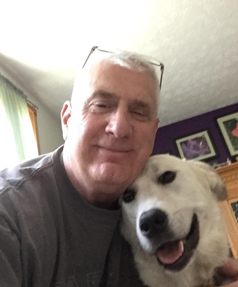 Jim with dog