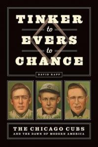 "Book cover ""Tinker to Evers to Chance..."""