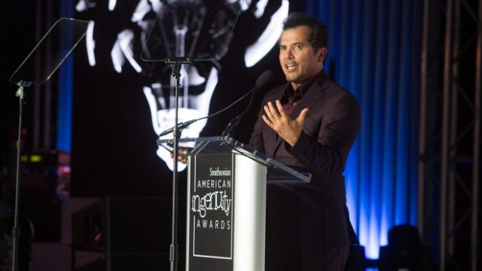 Leguizamo speaking at podium
