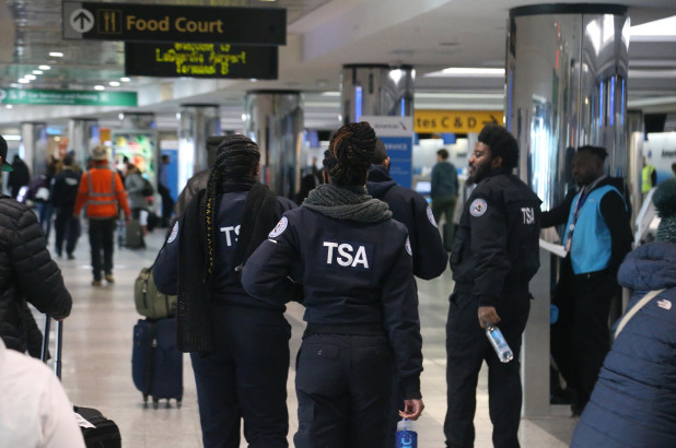 TSA workers in airport
