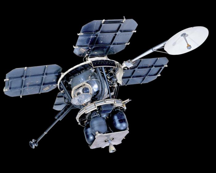 Orbiter against black background