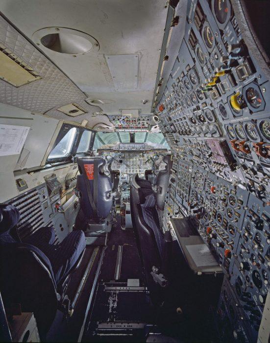 interior of cockpit