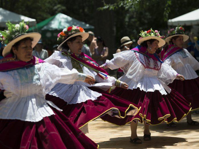 Costumed dancers
