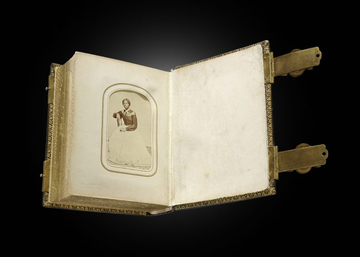 Old photo album with Tubman carte de visite