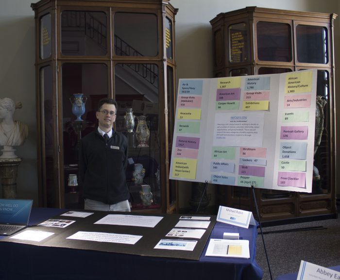 Rubin at presentation table