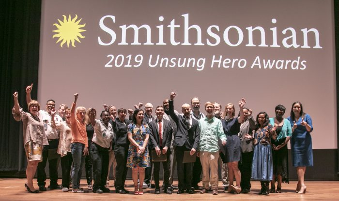 Group shot of 2019 Unsung Heroes