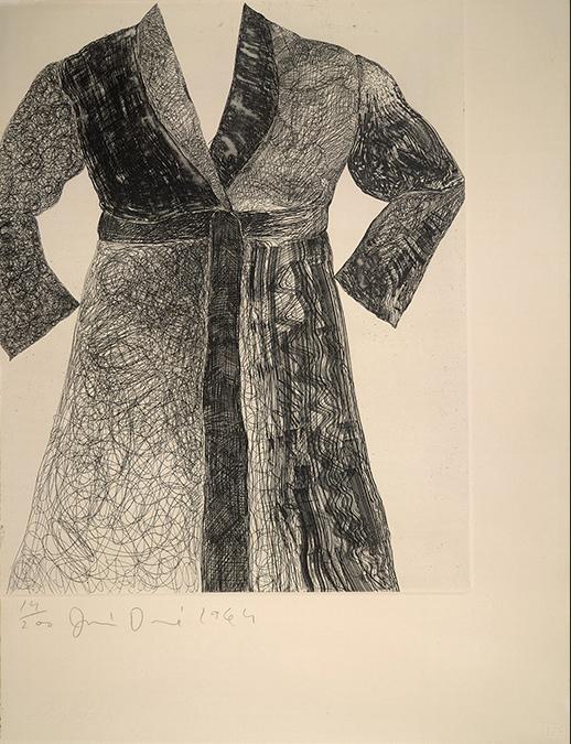 Drawing of a bathrobe