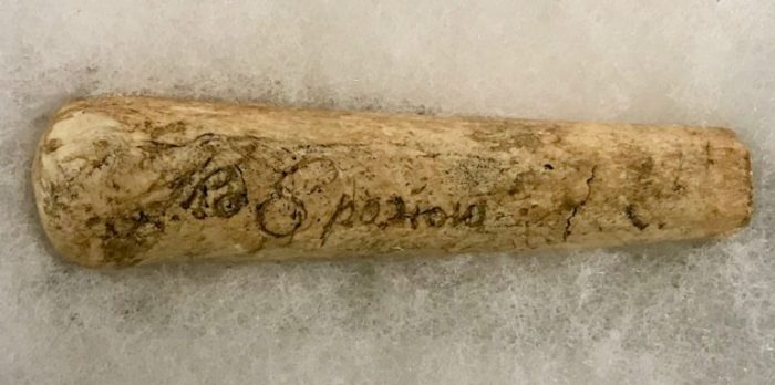 Inscribed handle