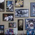 Cropped version of photo wall in Ellen Stofan's office