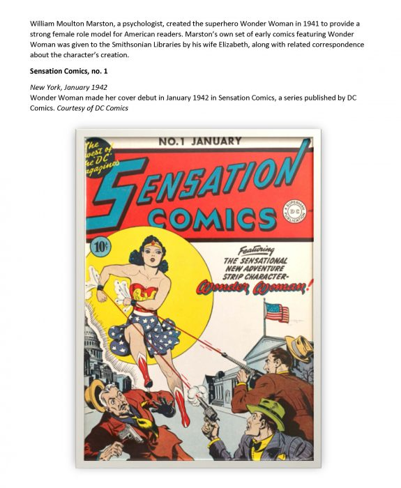 Sensation comic book featuring debut of Wonder Woman