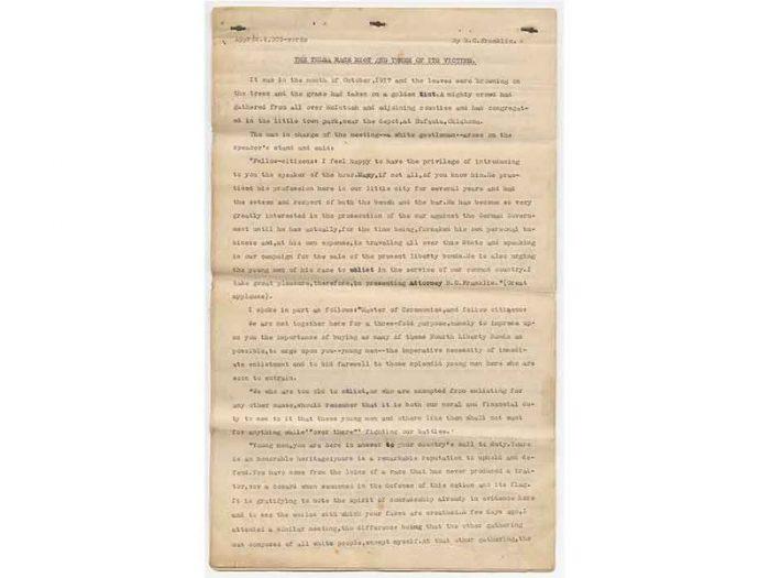 Type-written manuscript