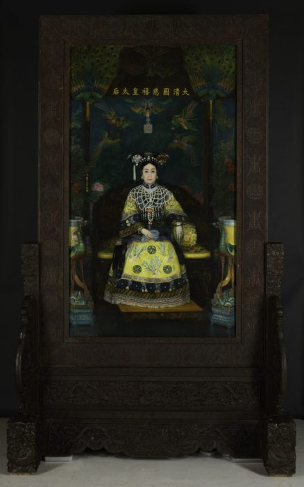 Empress dowager on throne