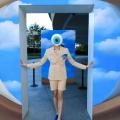 Person wearing eyeball costume